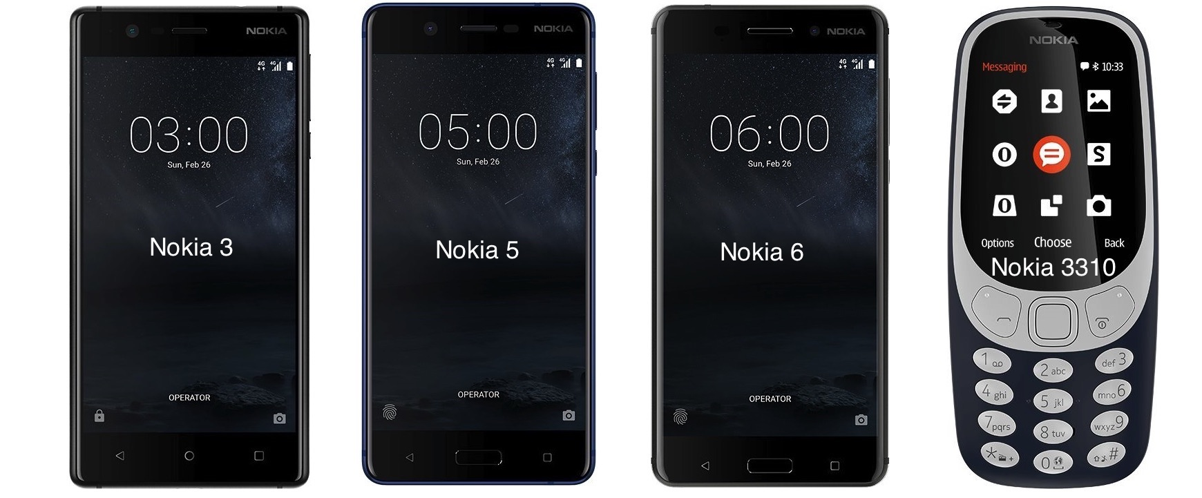 Nokia 3,Nokia 5,Nokia 6 and Nokia 3310 release in UAE